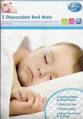 First Step Disposable Bed Mats - Pack Of 2 - Ideal Home And Travel.
