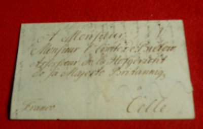 Tax Assessor Letter, 1755, Sealed When King George Ii Ruler Of Hanover, Germany