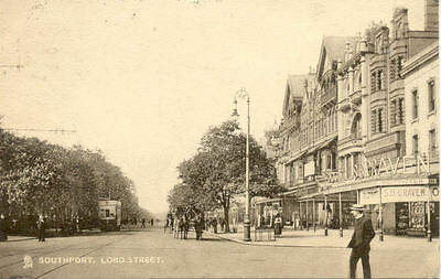 ANGLETERRE ENGLAND SOUTHPORT LORD STREET stamp 1906