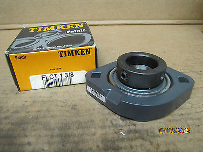 "Timken Fafnir 2 Bolt Flange Bearing w/ Collar FLCT 1 3/8 FLCT138 1-3/8"" Bore New"