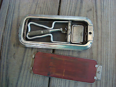 "Vintage Rolls Razor Kit "" The Whetter"" Single Greek Key Design Made England Org"