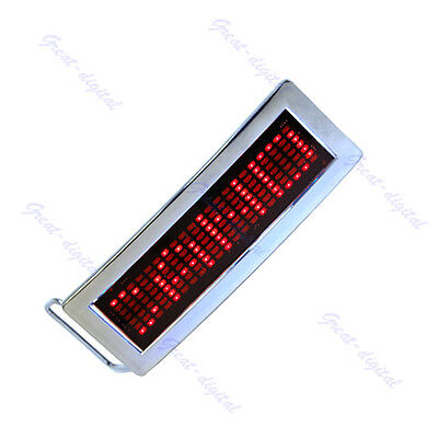 Programmable LED Screen Message Display Scrolling Red LED Chrome Belt Buckle