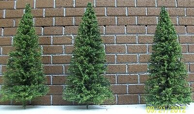 """O GAUGE PINE TREES for Model Railroad - 10 count - 7"""" Tall"""