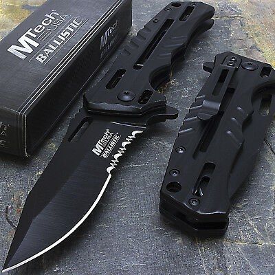 "8"" MTECH USA TACTICAL EDC STAINLESS SPRING ASSISTED TACTICAL POCKET KNIFE Blade"