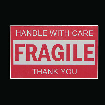 60x Fragile Handle With Care Thank You Adhesive Label 127x76mm Sticker Sheet