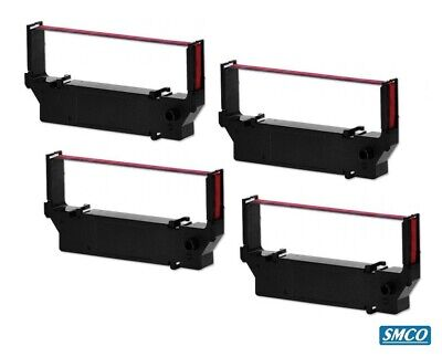 QTY 4 SMCO INK RIBBON for STAR SP700 SP 700 Printer Red Black pack 4
