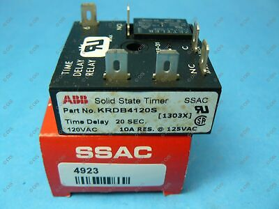 ON 1-100 min OFF 0.1-10 sec ABB ESDR424A0 Solid State Timer Recycling
