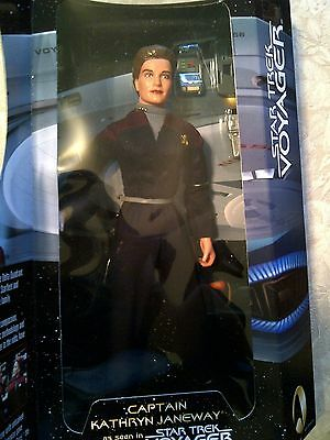 """Star Trek Voyager 12"""" Captain Janeway Figure Mint in Nice Box by Playmates Toys"""