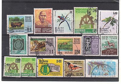 SRI LANKA = New selection of FINE USED stamps, STC £25++