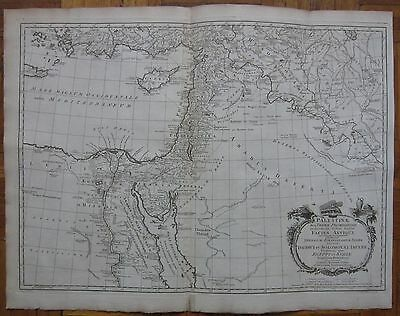 KITCHIN/BLAIR: Large Map of Middle East Cyprus Turkey  - 1770