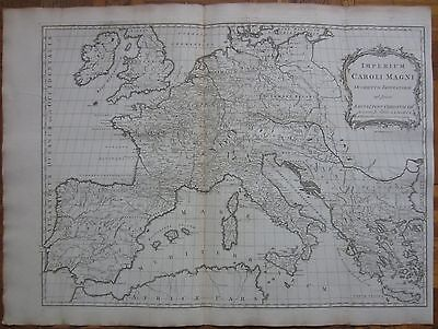 KITCHIN/BLAIR: Large Map of Europe Imperium Caroli Magni - 1770