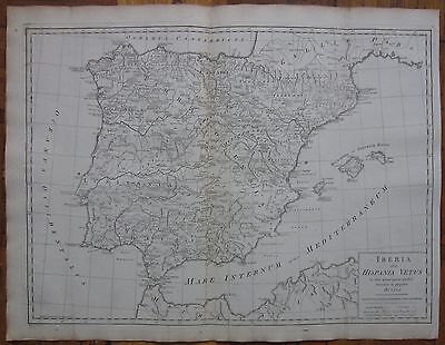 KITCHIN/BLAIR: Large Map of Spain  - 1770