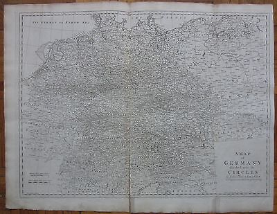 KITCHIN/BLAIR: Large Map of Germany - 1770