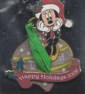 DLR - 2006 Holiday Ornament Collection Pin - Minnie Mouse (ARTIST PROOF)