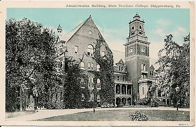 Administration Building State Teachers College Shippensburg PA Postcard