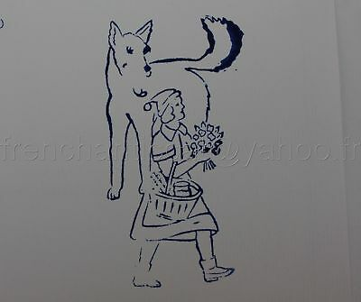A414 Tampon French Rubber Stamp Le Petit Chaperon Rouge