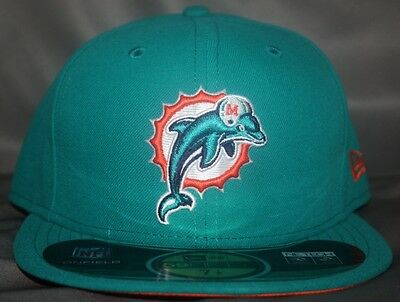 Miami Dolphins 2012 On-Field 59Fifty Structured Fitted Hat   Cap By New Era  Aqua 3aa84fea1