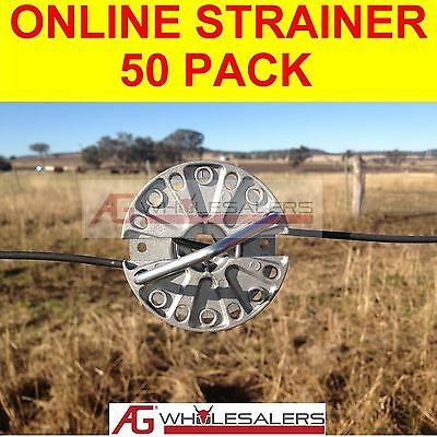 Online Strainer - 50 Pack - Non Ratchet For Tensioning Fence Wire Inline
