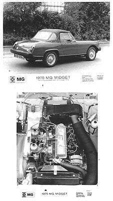 MG Midget 1500 internal + external x 2 Press Photographs Nos. 250926 & 251969