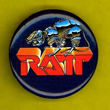 RATT 1986 usa-made celluloid badge button pinback  PP