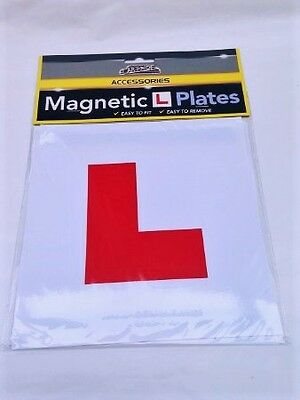 2 Pack of Top Quality Magnetic Learner Driver New Driver Plates (L) Car Pride