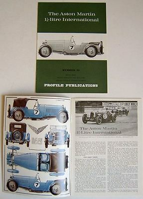 Aston Martin 1½ Litre International Profile No. 33 Sports, Coupe, LM7 +