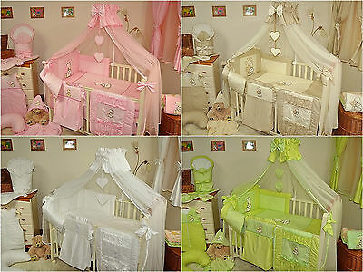 STUNNING BABY COT/COT BED CANOPY DRAPE/ MOSQUITO NET 320cm wide!HOLDER/ROD CLAMP