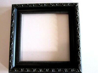 Black English Victorian Ornate Wood Picture Frames-Custom Made Square Sizes