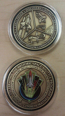 Kennedy Space Shuttle  NASA Coin Medallion Token Contains Flown In Space Metal