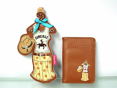 Personalize Luggage Tag & Passport Cover Set By Tammy's Closet ~ Cowgirl