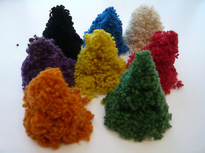 Mixed Wool Nepps - slubs, burrs for felting and spinning