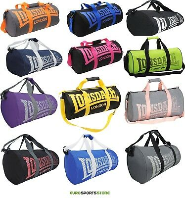 NEW Lonsdale Barrel Gym Sports Bag Mens Womens Boys Girls Shoulder Duffle Swim