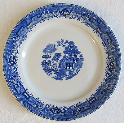"BLUE WILLOW ITEM #10 (1 BLUE WILLOW JACKSON 10"" HEAVY PLATE)"