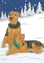 AIREDALE TERRIER HOLIDAY CARDS / 10 PACK