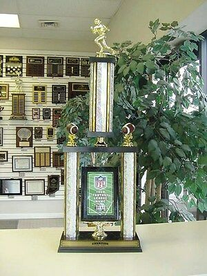 Fantasy Football Awesome New Large Two Post Trophy Our Custom Design Free Letter