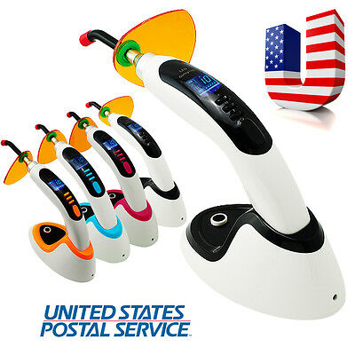 USA* 10W Dental Wireless Cordless LED Curing Light Lamp 2000MW & Teeth Whitening