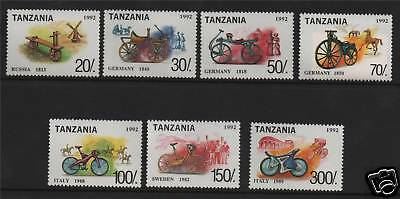 Tanzania 1992 Bicycles of the World SG1493/9 MNH