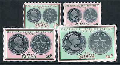 Ghana 1965 Decimal Currency SG 377/80 MNH