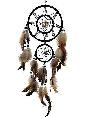 """Handmade Dream Catcher with feather wall hanging decoration ornament-22"""" Long"""