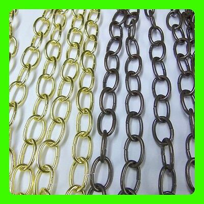 Brass Finished And Antique Finished Steel Chain 24mm x16mm Ovel Openable Links