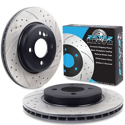 FRONT DRILLED GROOVED 276mm BRAKE DISCS PAIR FOR BMW MINI ONE COOPER S R50 R53