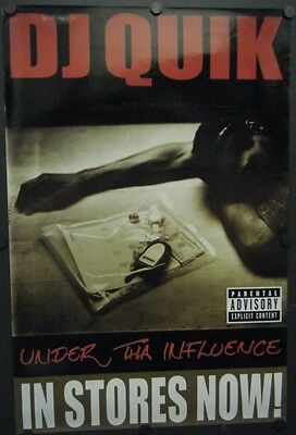 """Dj Quik Promo Poster Under Tha Influence 2002 Put It On Me 18"""" X 27"""" Trouble"""