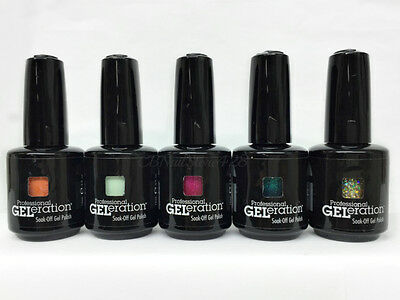 Jessica GELeration Soak Off Gel Polish 0.5oz/15ml- Set of 5 Colors