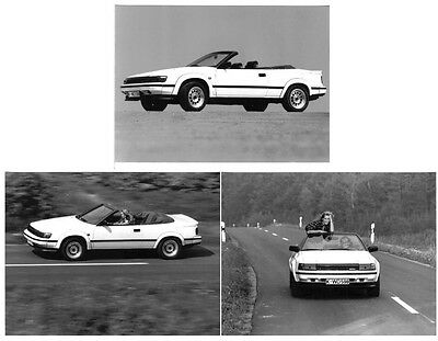 Toyota Celica Schwan Cabriolet 1985-86 Set of 3 Original b/w Press Photographs