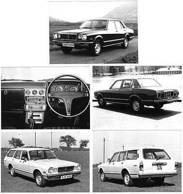 Toyota Cressida Saloon & Estate 1977 Set of 5 Original b/w Press Photographs