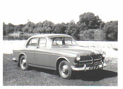 Volvo 122S Amazon circa 1963 original black & white Press Photograph