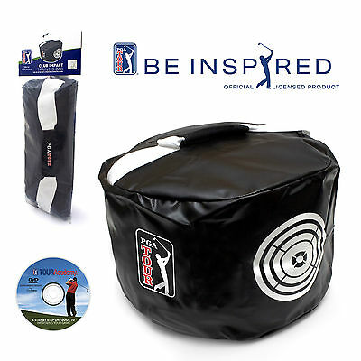 PGA TOUR Golf Power Impact Practice/Smash Bag + Free Training DVD - Swing Aid