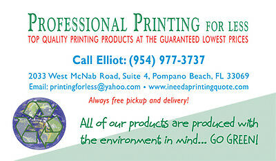 1000 Full Color 2 Sided SILK Laminated Business Card, with Spot UV On Both Sides