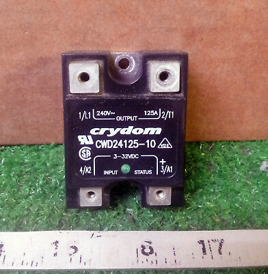 1 Used Crydom Cwd24125-10 Panel Mount Solid State Relay ***make Offer***