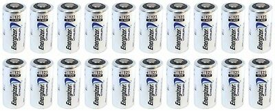 20 New Energizer Lithium Cr 123 Cr123A 123A 3V Battery Exp. 2028 Free Ship